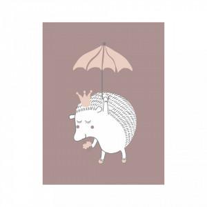 Poster mov din hartie 30x40 cm Hedgehog Bloomingville Mini