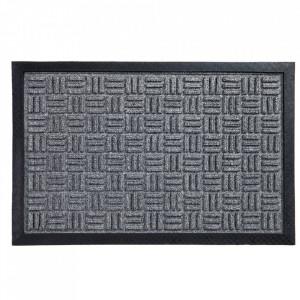 Pres dreptunghiular gri din polipropilena pentru intrare 40x60 cm Country Lako