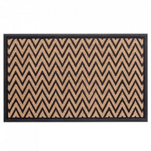 Pres dreptunghiular maro/negru din polipropilena pentru intrare 45x75 cm Taipei Lako
