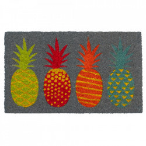 Pres dreptunghiular multicolor din fibre de cocos pentru intrare 45x75 cm Pineapple Lako