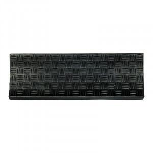 Pres dreptunghiular negru din cauciuc pentru trepte 25x75 cm Trep Lako