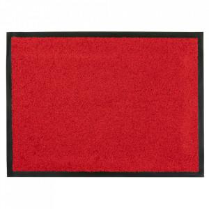 Pres dreptunghiular rosu din poliamida pentru intrare 60x80 cm Continental Lako