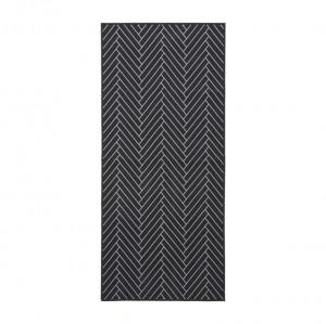 Pres pentru intrare din cauciuc negru 90x200 cm Herringbone House Doctor