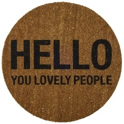 "Pres rotund pentru intrare Ø70 cm ""Hello you lovely people"" Bloomingville"
