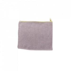 Prosop mov/galben din bumbac 40x60 cm Tea Towel Purple Hubsch