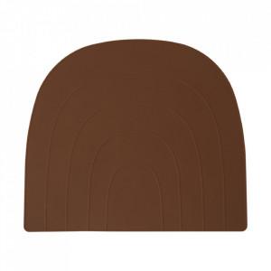 Protectie masa maro caramel din silicon 34x41 cm Rainbow Oyoy