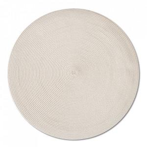 Protectie masa rotunda crem din polipropilena 38 cm Twist Zeller