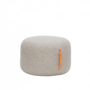 Puf rotund din lana gri 50 cm Round Hubsch