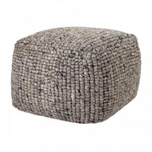 Puf rotund gri din textil 61x61 cm Boston Bloomingville