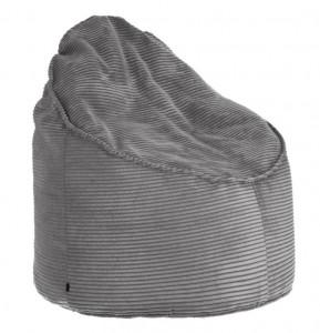 Puf rotund gri din textil 80 cm Bimba La Forma