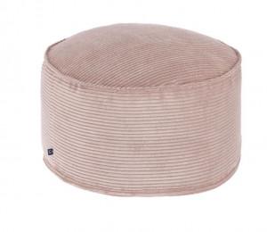 Puf rotund roz din textil 60 cm Zina Large La Forma