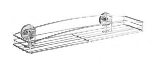 Raft argintiu din inox 52 cm pentru baie Vacuum-Loc Maxiablage Milazzo Fasten Wenko