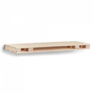 Raft maro din lemn 80 cm Palette Medium Zeller