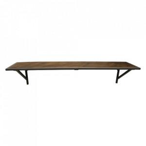 Raft maro din lemn si metal 80 cm Pipe Raw Materials
