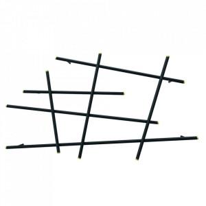 Raft negru din metal 185 cm Complice Zago