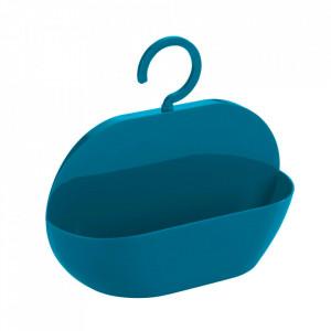 Raft pentru baie albastru petrol din plastic 26 cm Caddy Cocktail Wenko