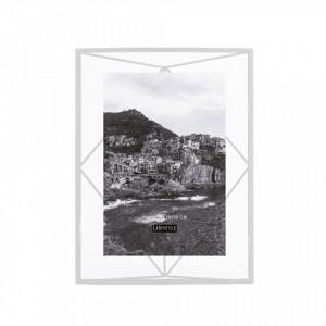Rama foto alba din metal si sticla 25x35 cm Nuri White LifeStyle Home Collection