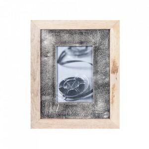 Rama foto multicolora din lemn si aluminiu 23x28 cm Rouen Vical Home