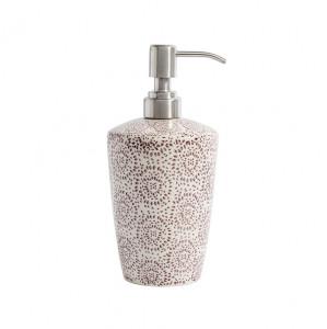 Recipient ceramic pentru sapun lichid Blossom mov Nordal