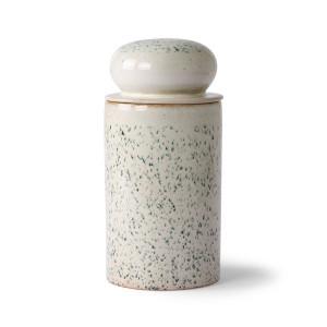 Recipient cu capac gri piatra din ceramica 1 L Hail HK Living