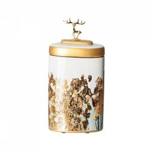 Recipient cu capac multicolor din ceramica 20x43 cm Damian Vical Home