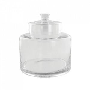 Recipient cu capac transparent din sticla 25x25 cm Sem L LifeStyle Home Collection