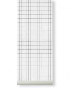 Rola tapet 53x1000 cm Grid alb/negru Ferm Living