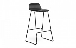 Scaun bar negru din lemn si metal Just Oak Normann Copenhagen