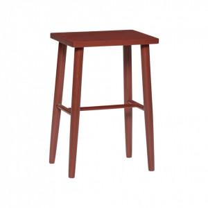 Scaun bar rosu din lemn stejar 52 cm Red Hubsch