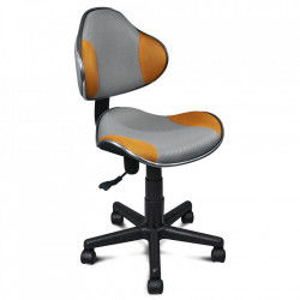Scaun birou ajustabil gri/portocaliu din textil si metal Q-G2 Signal Meble