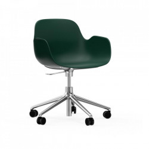 Scaun birou ajustabil rotativ verde din polipropilena Form 5W Normann Copenhagen