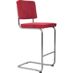 Scaun de bar rosu Ridge Kink Rib Red 21A Zuiver