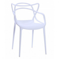 Scaun dining alb din plastic Toby Bialy White Signal Meble