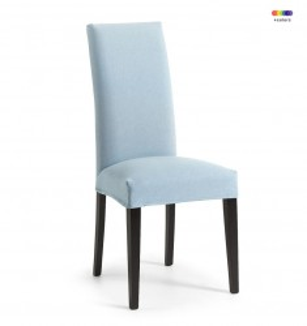Scaun dining albastru deschis  din lemn de fag si textil Freia Light Blue La Forma