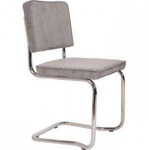 Scaun dining din metal si textil gri Ridge Kink Cool Grey 32A Zuiver