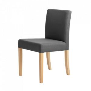 Scaun dining gri carbon din poliester si lemn Wilton Custom Form