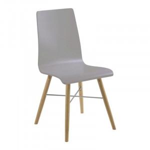 Scaun dining maro/gri din metal si lemn Milton Actona Company