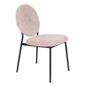 Scaun dining roz din poliester si placaj Mist Zuiver
