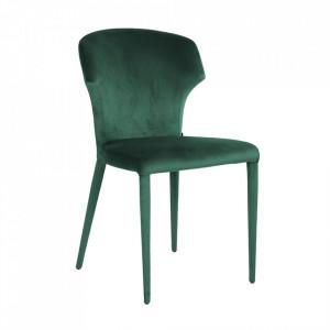 Scaun dining verde din catifea Piper Richmond Interiors