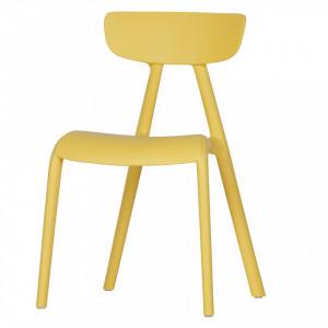 Scaun galben din polipropilena pentru copii Wisse Woood