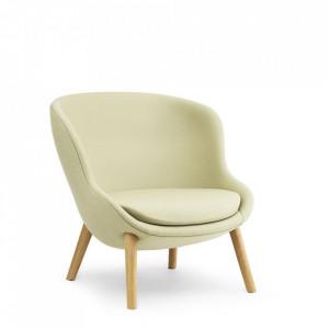 Scaun lounge din lemn si textil Hyg Synergy Oak Normann Copenhagen