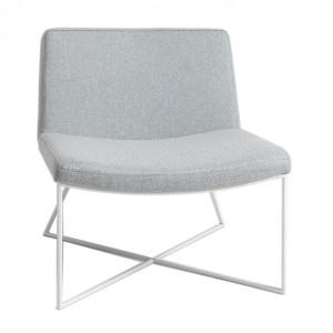 Scaun lounge gri/alb din polipropilena si metal Zero Custom Form