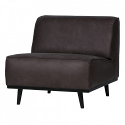 Scaun lounge gri din piele si poliester Statement Be Pure Home