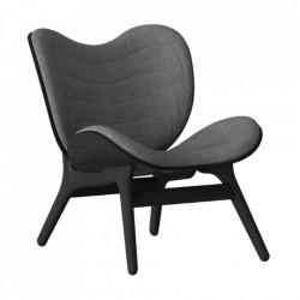 Scaun lounge gri/negru din poliester si lemn A Conversation Piece Umage