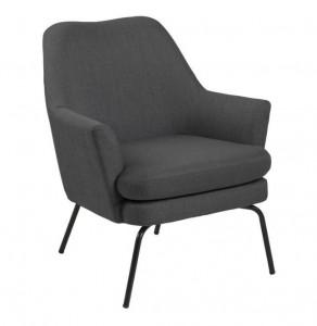 Scaun lounge gri/negru din textil si metal Chisa Grey Black Actona Company