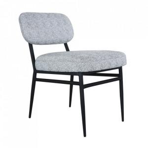 Scaun lounge gri/negru din textil si metal Rens Anne Steinhauer
