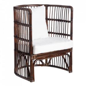 Scaun lounge maro din ratan Berry Ixia