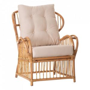 Scaun lounge maro din ratan Vakaga Ixia