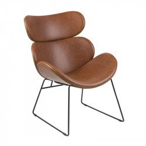 Scaun lounge maro/negru din poliuretan si metal Cazar Actona Company