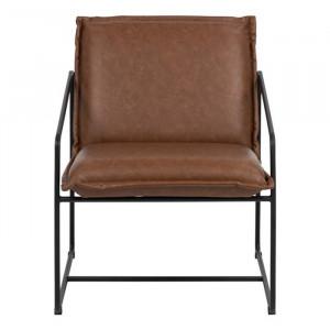 Scaun lounge maro/negru din poliuretan si metal Sheba Actona Company